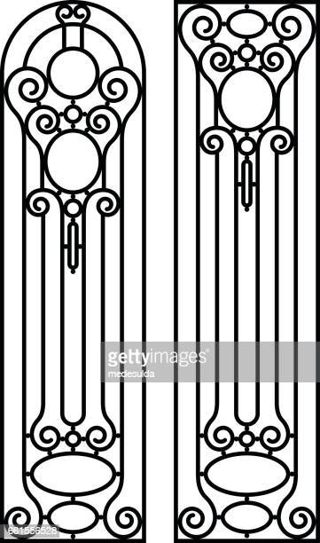 wrought - art nouveau stock illustrations, clip art, cartoons, & icons