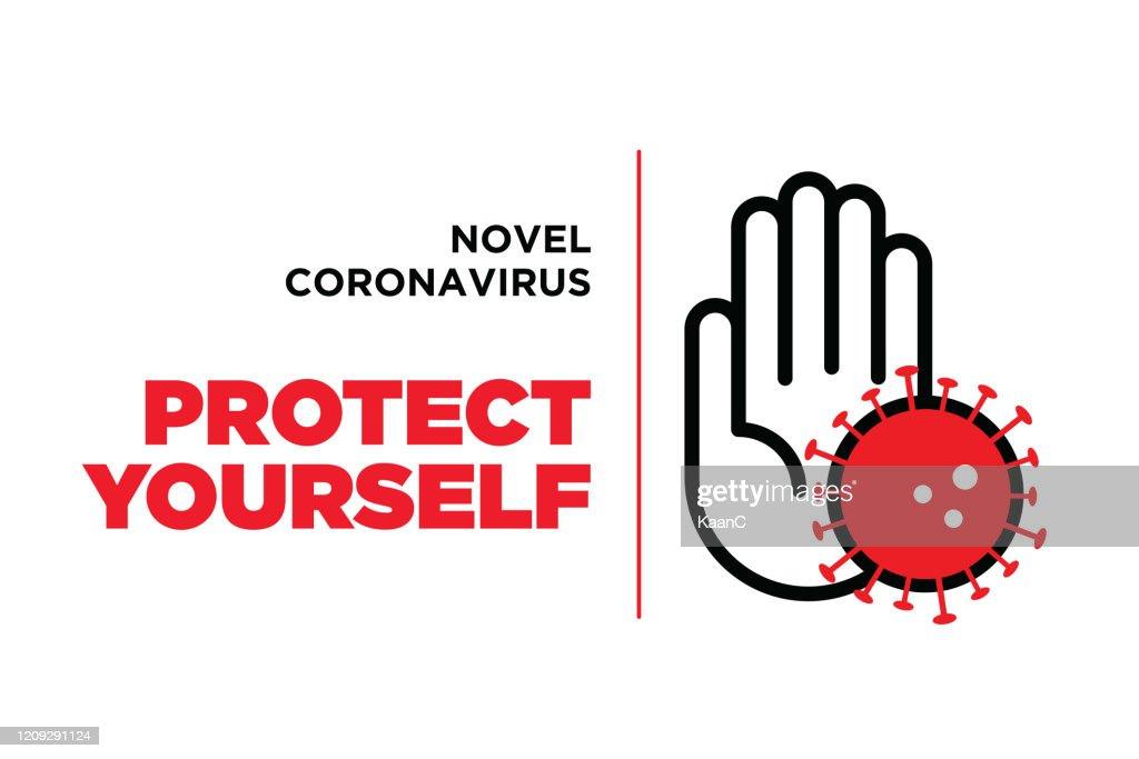 Wuhan coronavirus outbreak influenza as dangerous flu strain cases as a pandemic concept banner flat style illustration stock illustration : Stock Illustration