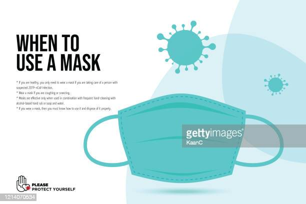 wuhan virus disease vector icon with face mask. china novel coronavirus disease concept design stock illustration. covid-19 vector template - protective face mask stock illustrations