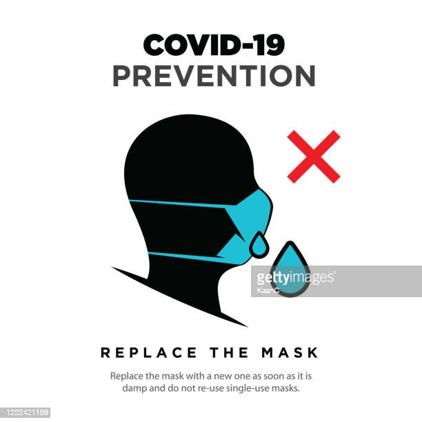 wuhan virus disease vector icon with face mask. china novel coronavirus disease concept design stock illustration. covid-19 vector template - disease vector stock illustrations