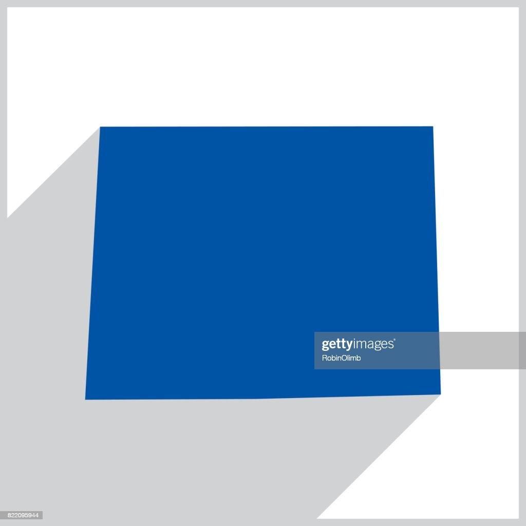 Wyoming Blue Map icon : stock illustration