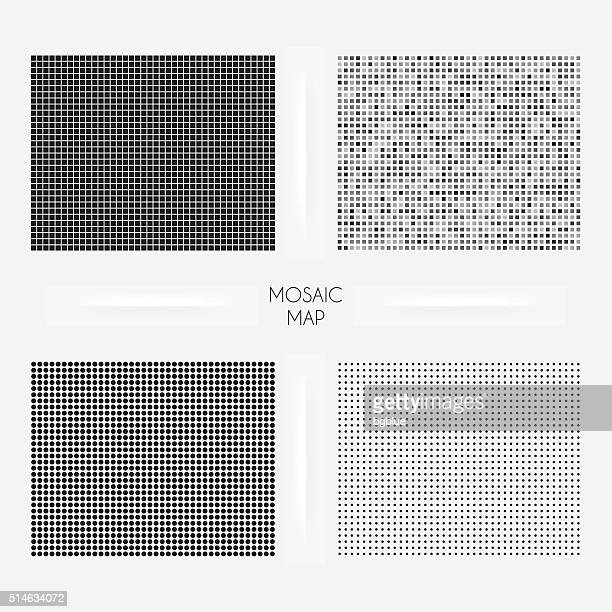 wyoming maps - mosaic squarred and dotted - stipple effect stock illustrations
