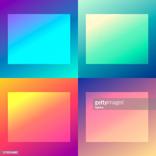 Wyoming maps with colorful gradients - Trendy background