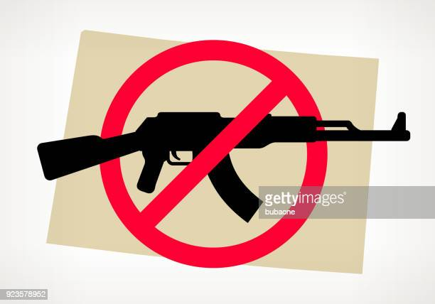 Wyoming No Gun Violence Vector Poster