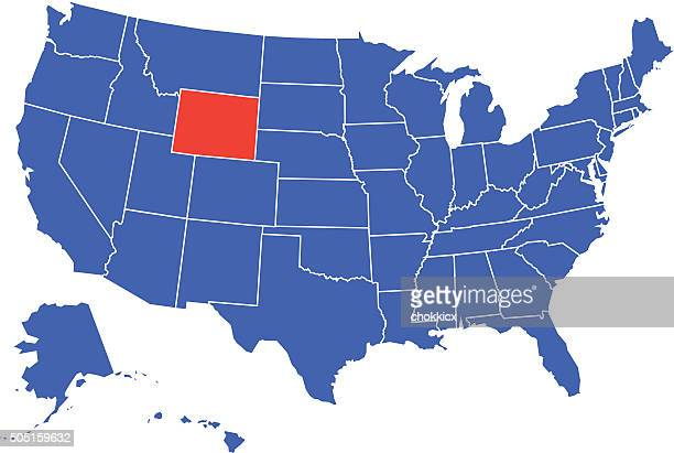 Wyoming State Selected in USA