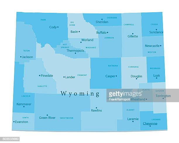 Wyoming Vector Map Isolated