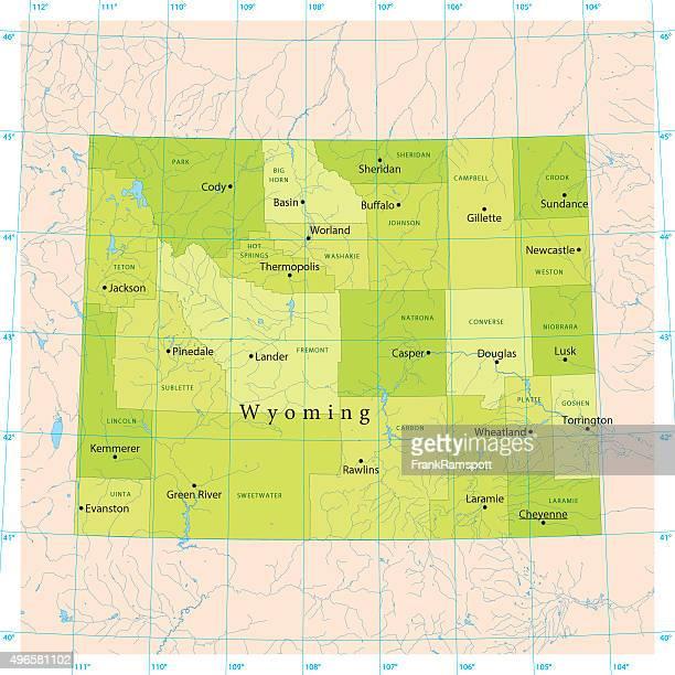 Wyoming Vector Map
