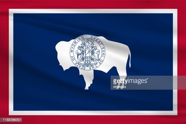 Wyoming Waving Flag