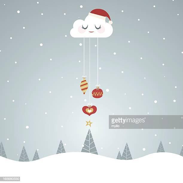ilustrações de stock, clip art, desenhos animados e ícones de nuvem de fundos - kawaii