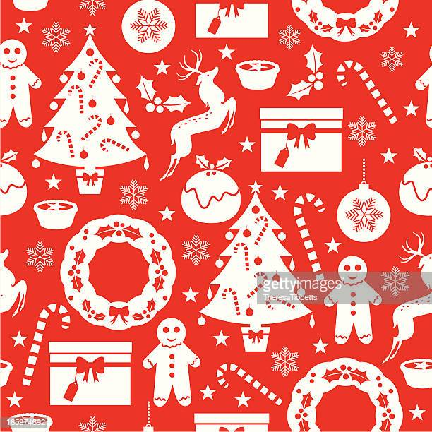 xmas repeat pattern - mulled wine stock illustrations, clip art, cartoons, & icons
