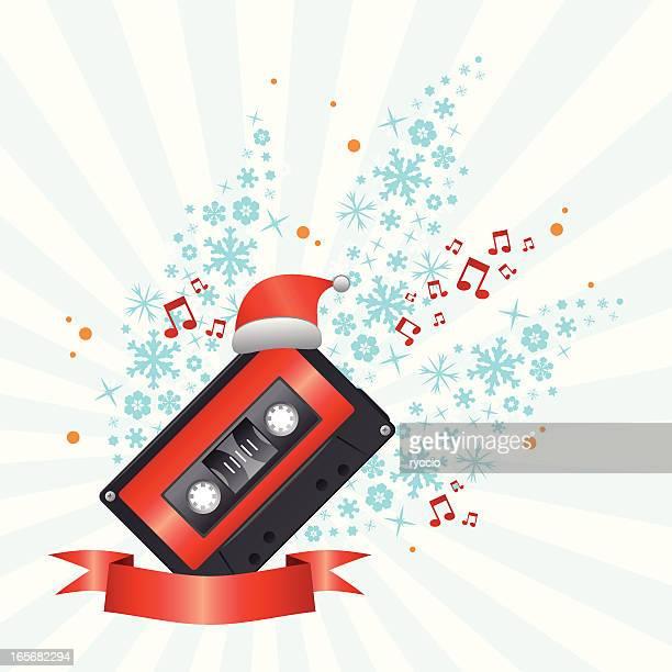 xmas song - christmas music stock illustrations