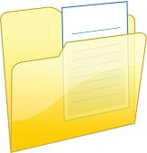 Xp icon / closed folder with a note