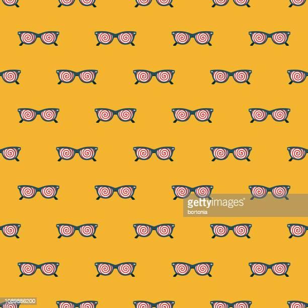 ilustraciones, imágenes clip art, dibujos animados e iconos de stock de gafas de rayos x de patrones sin fisuras april fools' day - inocentada