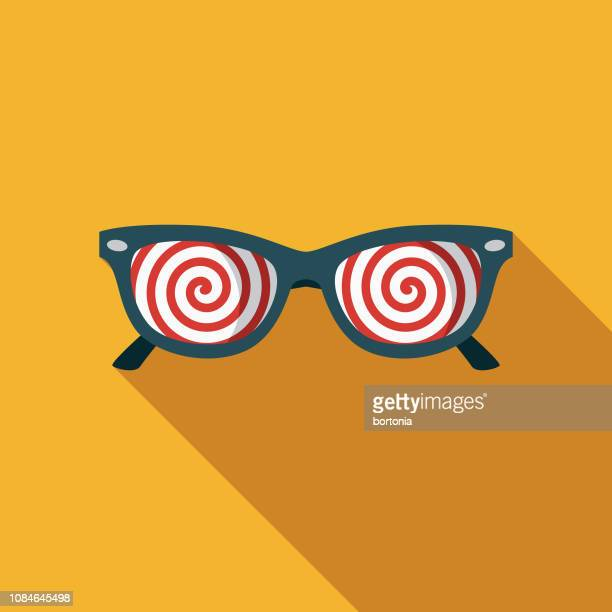 x-ray glasses flat design april fools day icon - hypnosis stock illustrations