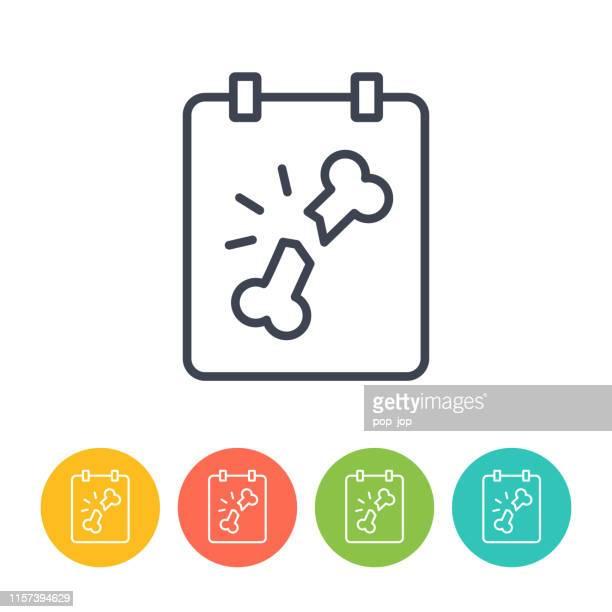 x-ray icon - thin line vector. health and medicine - x ray equipment stock illustrations, clip art, cartoons, & icons