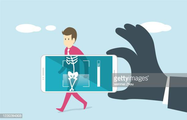 x-ray image - security scanner stock illustrations