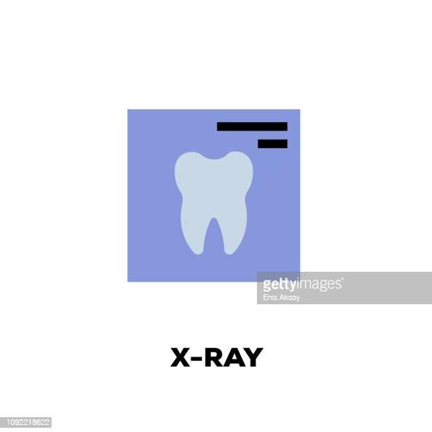 x-ray line icon - x ray equipment stock illustrations, clip art, cartoons, & icons