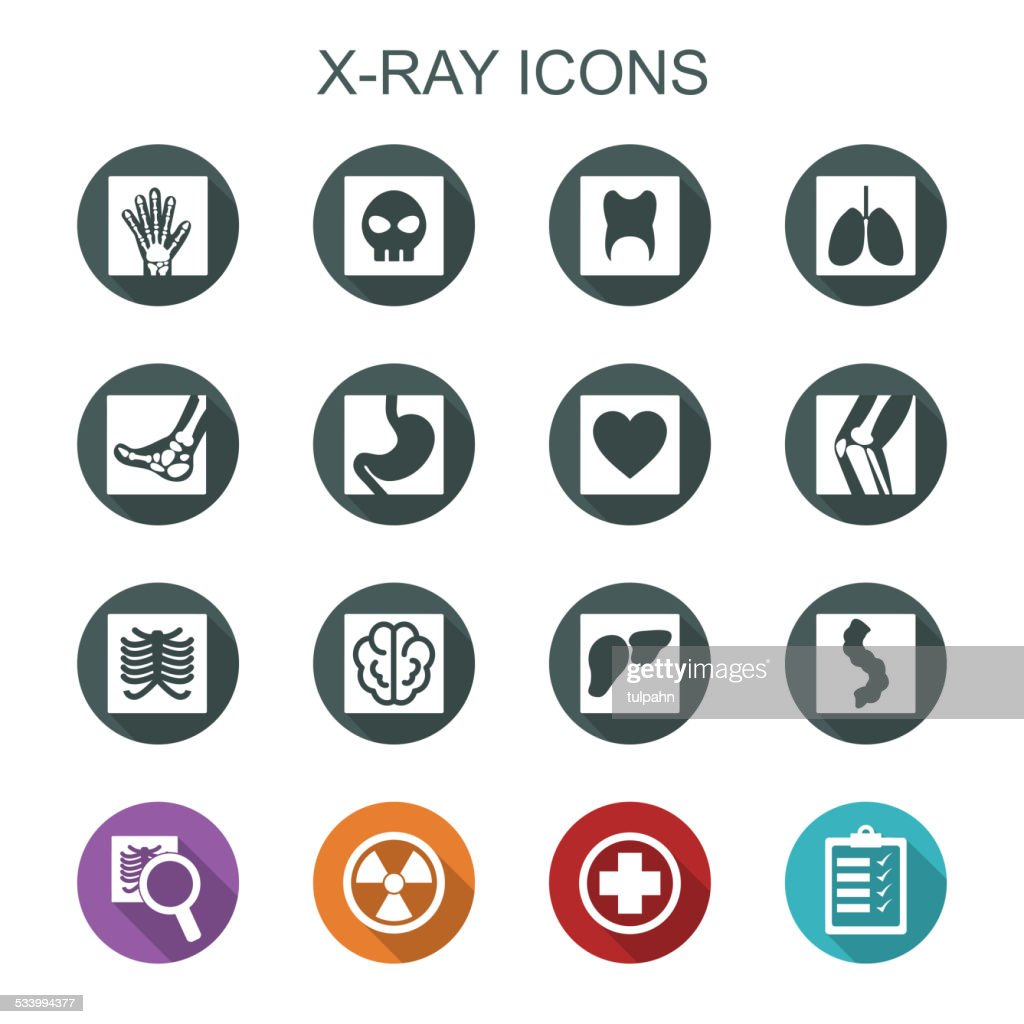 x-ray long shadow icons