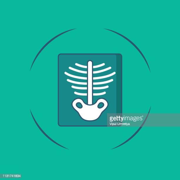 x-ray, medical diagnostics icon - x ray equipment stock illustrations, clip art, cartoons, & icons