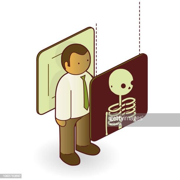 x-ray - x ray equipment stock illustrations, clip art, cartoons, & icons