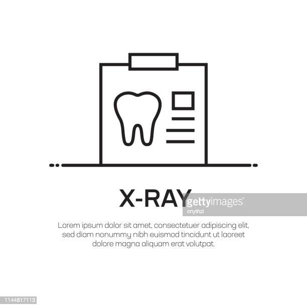 x-ray vector line icon - simple thin line icon, premium quality design element - x ray equipment stock illustrations, clip art, cartoons, & icons