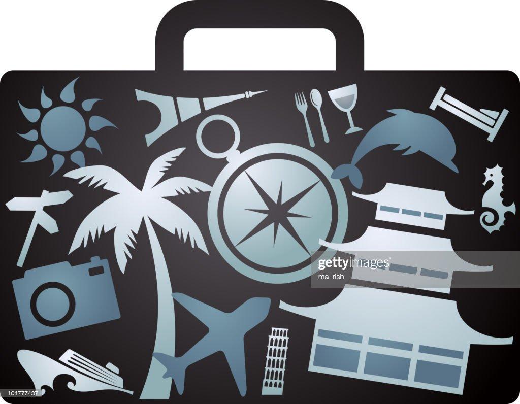 X-rayed tourist suitcase
