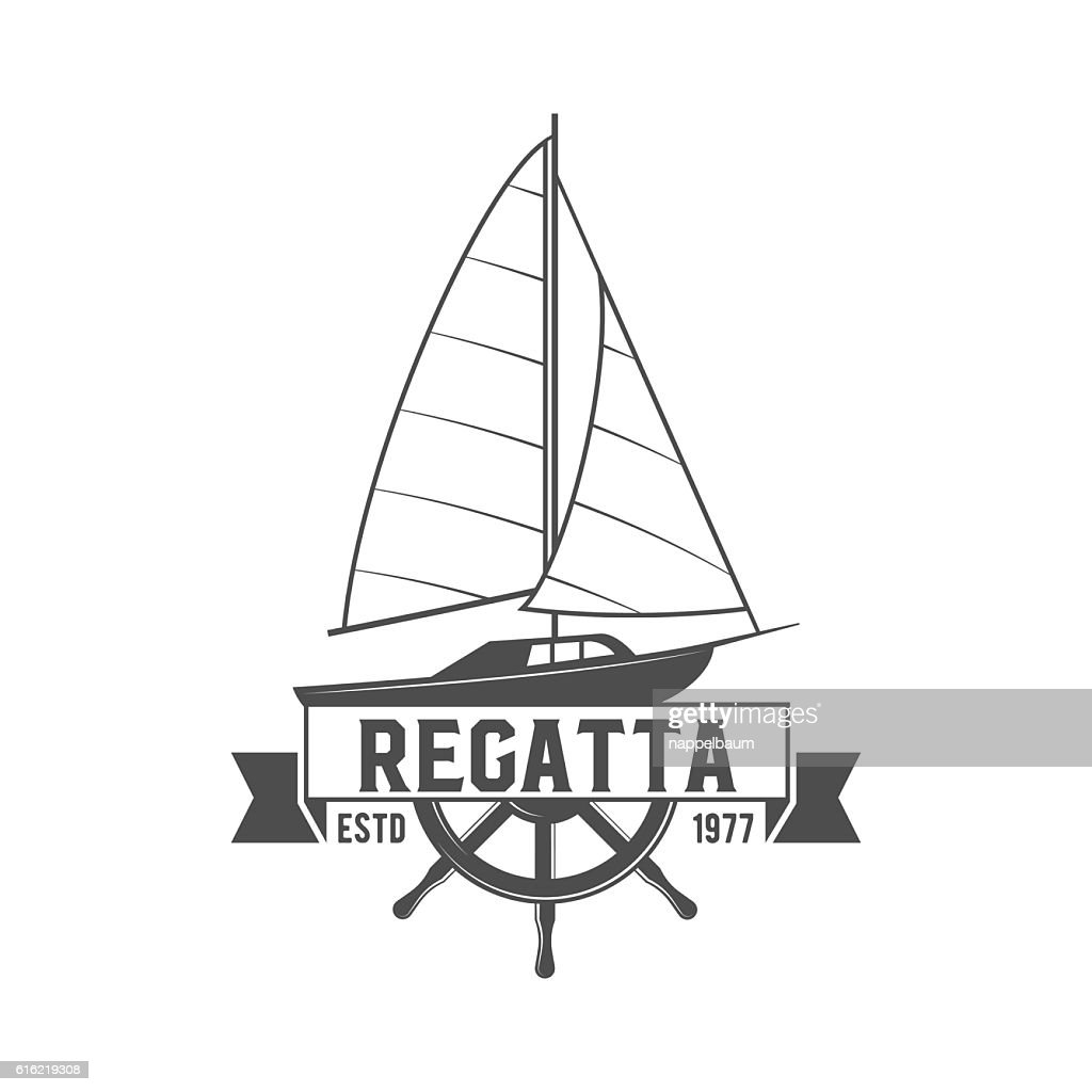 Yacht club badge, logo, label : Vector Art