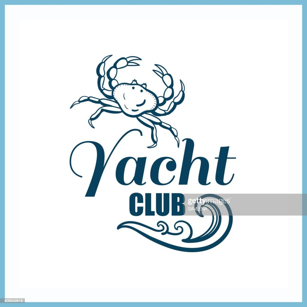 Yacht_Club_Badge_With_Crab