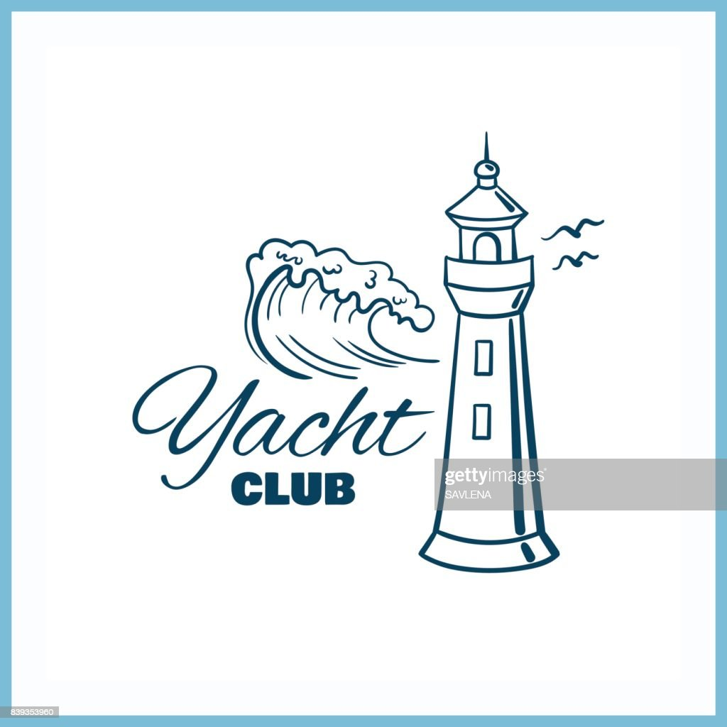 Yacht_Club_Badge_With_Lighthouse