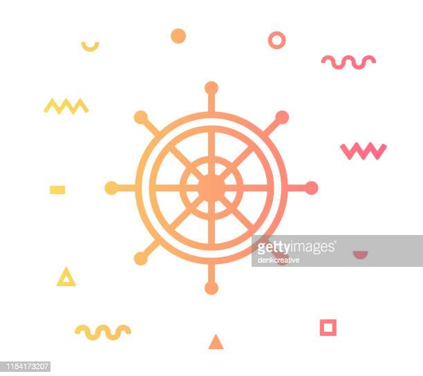 Yachting Line Style Icon Design