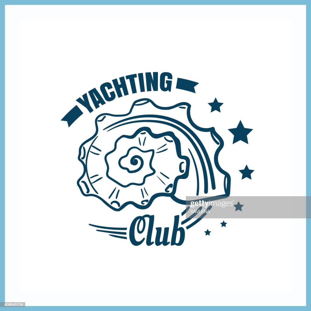 Yachting_Club_Badge_With_Seashell