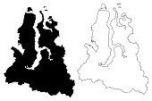 Yamalo-Nenets Autonomous Okrug map vector