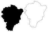 Yaroslavl Oblast map vector