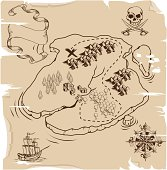Ye Olde Pirate Treasure Map