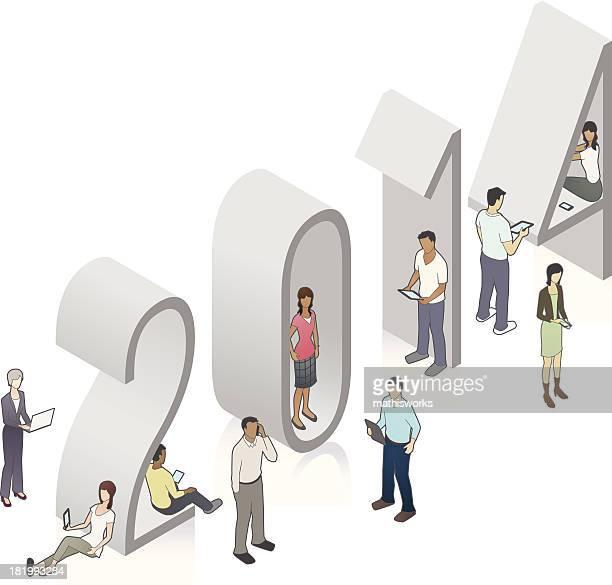 year 2014 illustration - mathisworks stock illustrations