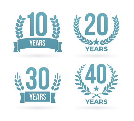 Year Anniversary Award Badges - gettyimageskorea