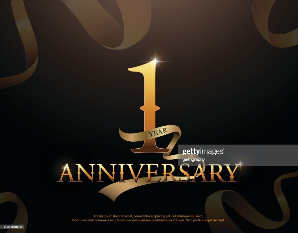 Year anniversary celebration logotype template st logo with