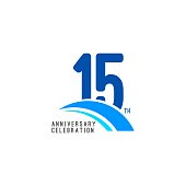 15 Year Anniversary Celebration Vector Template Design Illustration