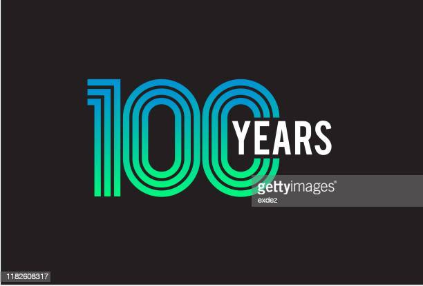 100 year anniversary design - anniversary stock illustrations