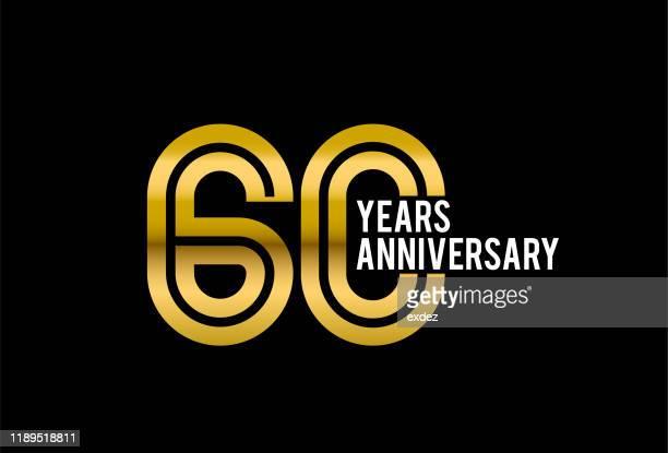 60周年記念 - 数字の60点のイラスト素材/クリップアート素材/マンガ素材/アイコン素材