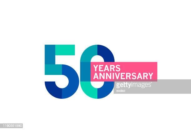 stockillustraties, clipart, cartoons en iconen met 50 jarig jubileum - 50 jarig jubileum