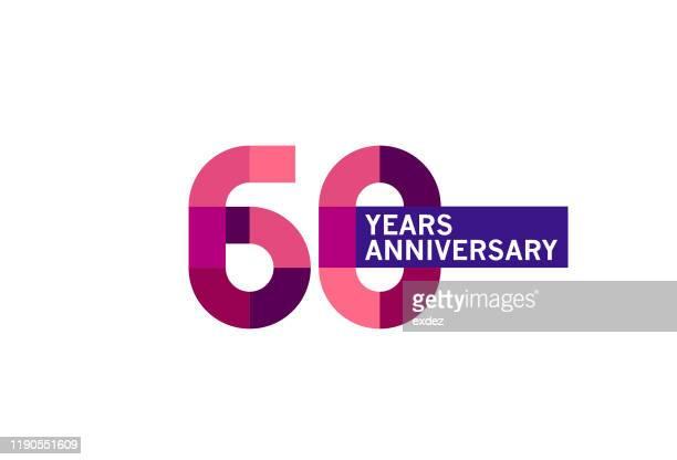 60 year anniversary - 60th anniversary stock illustrations
