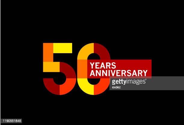 ilustrações, clipart, desenhos animados e ícones de aniversário de 50 anos - aniversário de 50 anos data especial