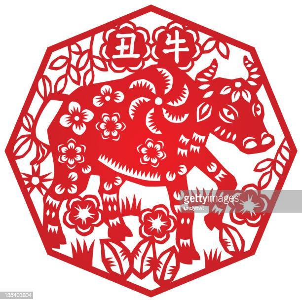 year of ox - mammal stock illustrations