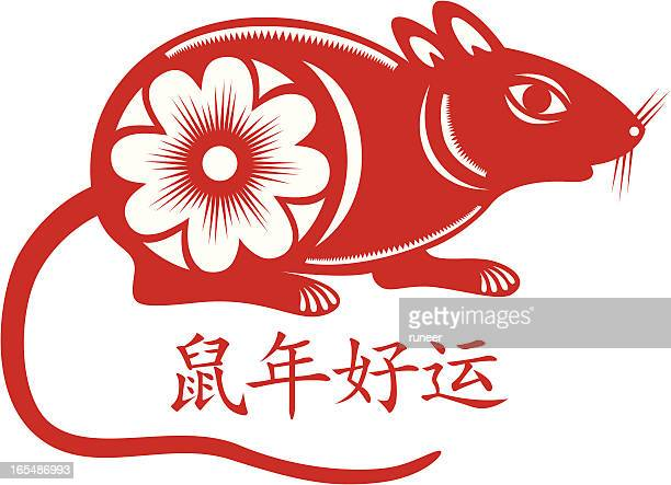 year of rat - chinese zodiac sign stock illustrations, clip art, cartoons, & icons
