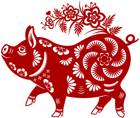 Year of the Pig Papercut - gettyimageskorea