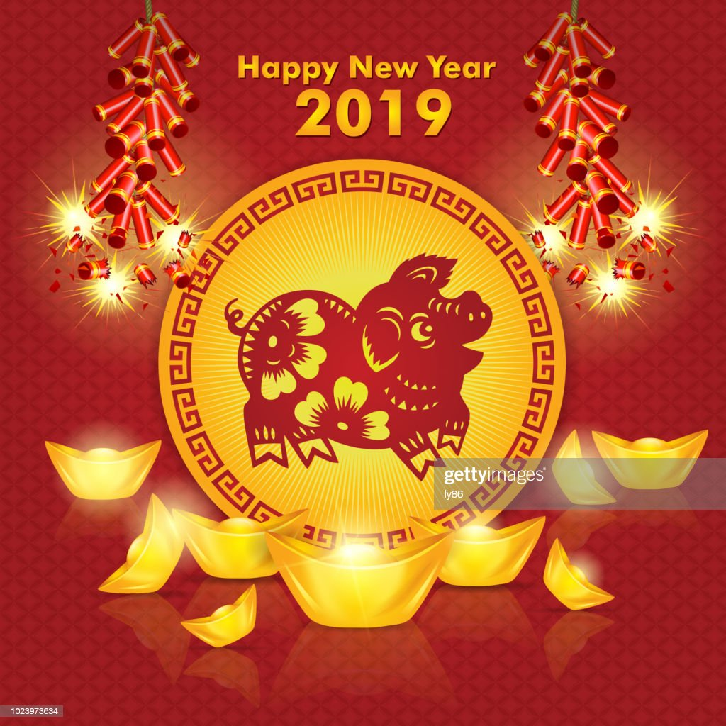 year of the pig pig paper cut 2019 happy new year