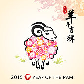 Year of the Ram Painting with Floral
