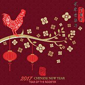 Year Of The Rooster.2017 Chinese New Year,Chinese Zodiac