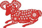 Year of the Sheep Papercut